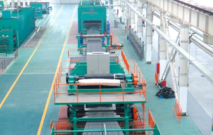 1.8M wide x 16.6M length of steel cord conveyor belt production line